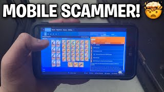 DUMB Scammer was playing on his Phone!📱(Scammer Get Scammed) Fortnite Save The World