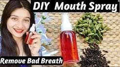 DIY Natural Mouth Spray   Bad breath remedy in Hindi   Bad Breath Hacks   AVNI