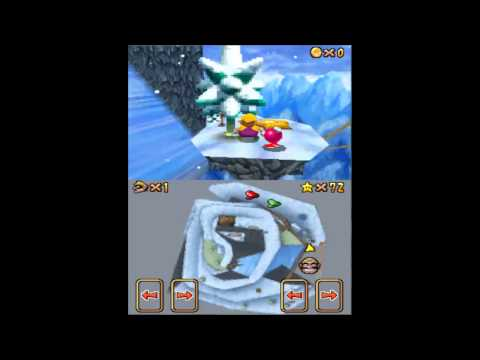 Let's Play Super Mario 64 DS Switch Star of Cool, Cool Mountain