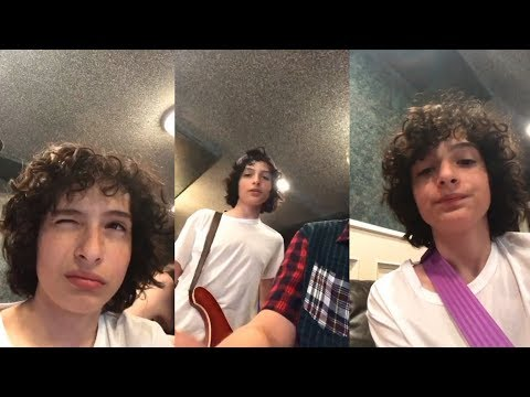 Finn Wolfhard | Instagram Live Stream | 24 July 2017 w/ His Band