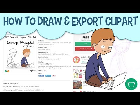 How To Draw And Export Clip Art To Sell Online | Clipart Photoshop Walkthrough