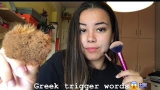 ASMR   Brushing your face ( with special trigger words)
