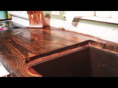 Finished wood countertops//