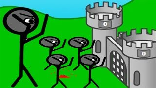 DESTROY THE INVADERS STICKMAN | Defend Your Castle Gameplay