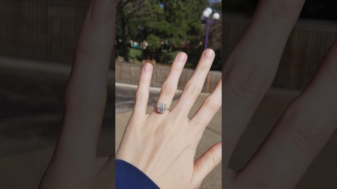 Harry Winston Belle Engagement Ring Youtube
