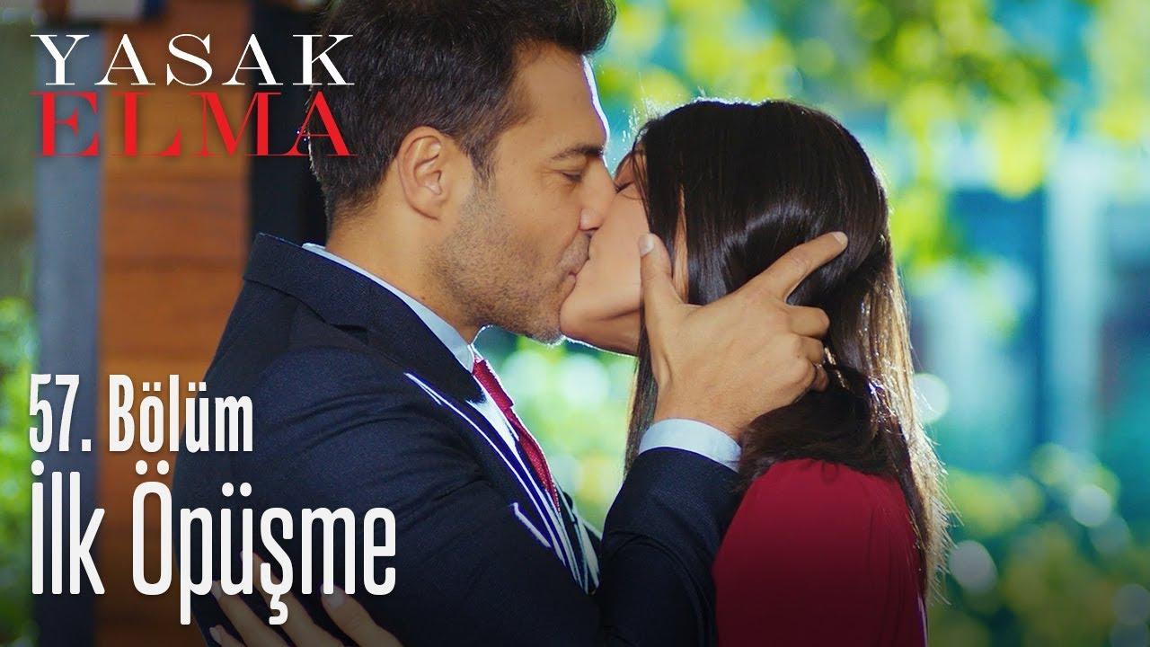 Kaya ve Leyla'nın ilk öpüşmesi - Yasak Elma 57. Bölüm
