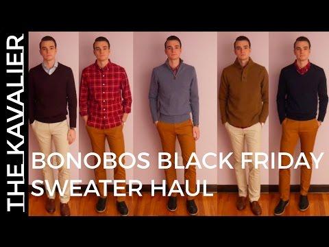Bonobos Black Friday 2016 Clothing Haul | Winter Sweater Lookbook