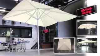CARAVITA TestLab | Sonnenschirm Big Ben 2 im Windkanal