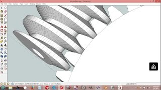 Worm Gears In SketchUp + NetFabb = 3D Printable