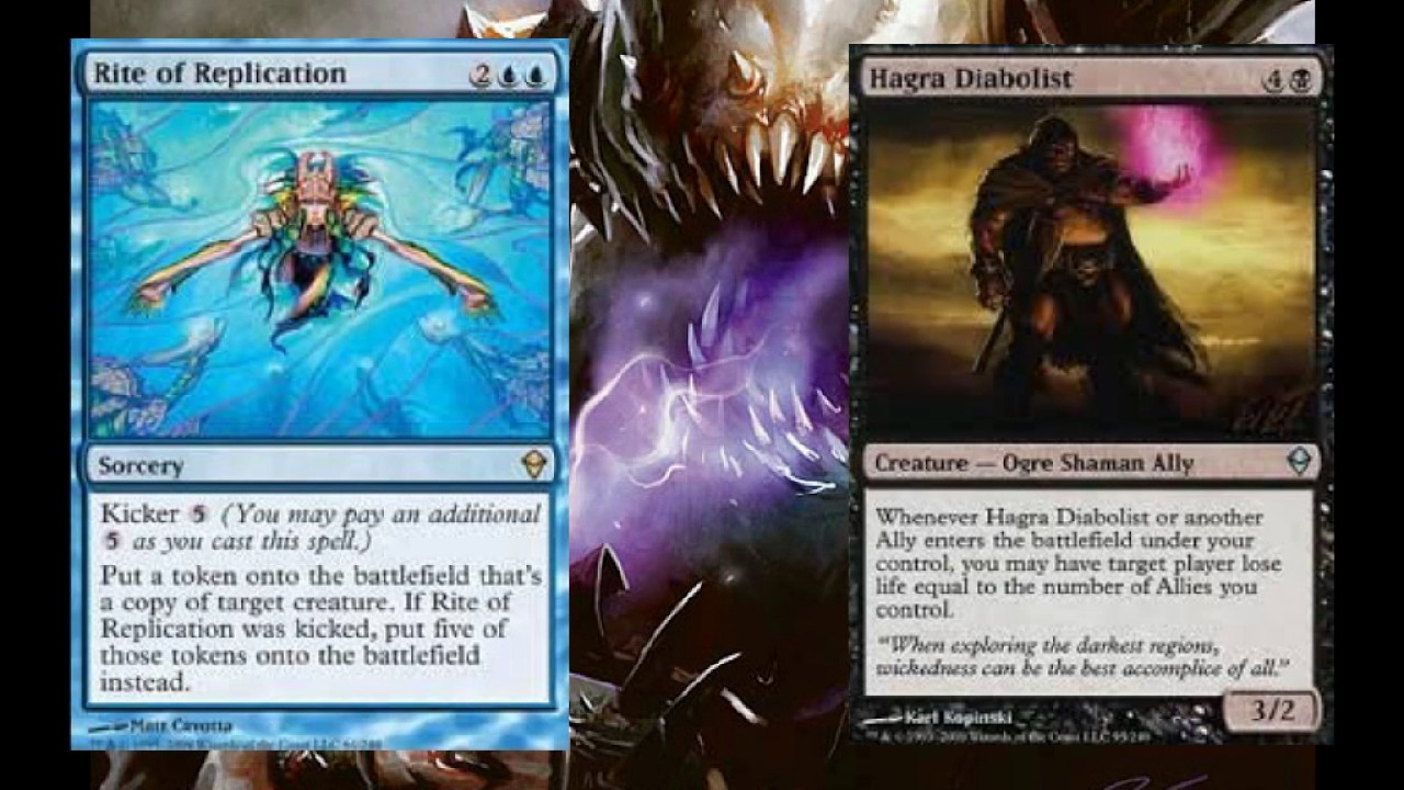 EDH COMBO FOR ALLIES!! Rite of replication + hagra diabolist