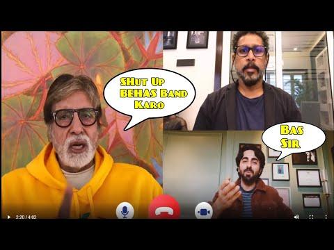 Amitabh Bachchan FIGHT WITH ayushmann khurrana in FACEBOOK LIVE | Gulabo Sitabo Trailer