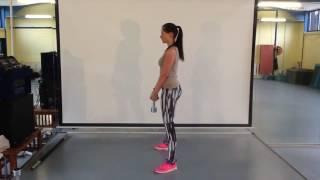 Kniebeuge mit Kurzhanteln