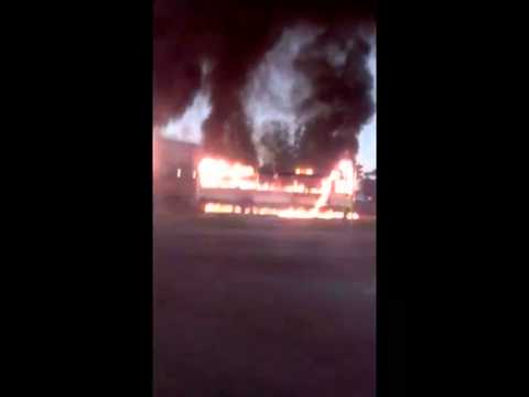 Taxi drivers on strike burn 7 golden arrow busses