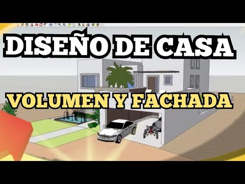 V17 dise ar una casa vol men y fachadas youtube for Programa para dibujar en 3d