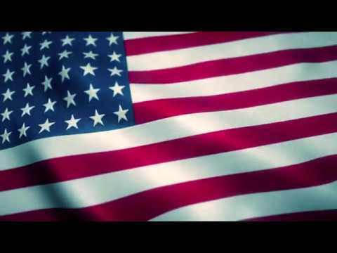 American Flag Animated Background Loop Animation