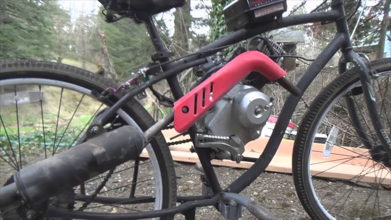 Putting Motor On Bicycle Part 4