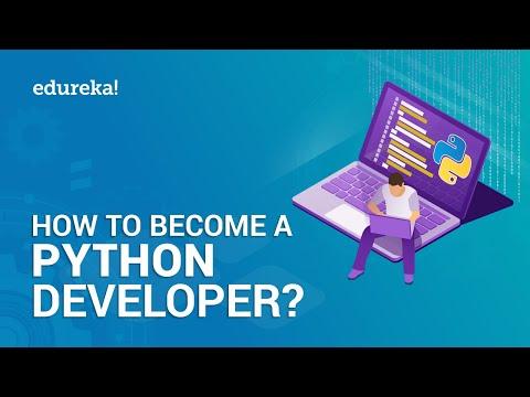 Python Developer   How to become Python Developer   Python Tutorial   Edureka