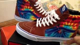 1e35174b00 ... Vans Sk8 Hi Tie Dye brown unboxing quick vid