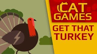 CAT GAMES - 🦃 Get That Turkey! (Thanksgiving day for Cats) 1 Hour 4K