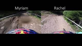 Fort William UCI DH Worldcup 2018 Rachel Atherton vs. Myriam Nicole POV runs