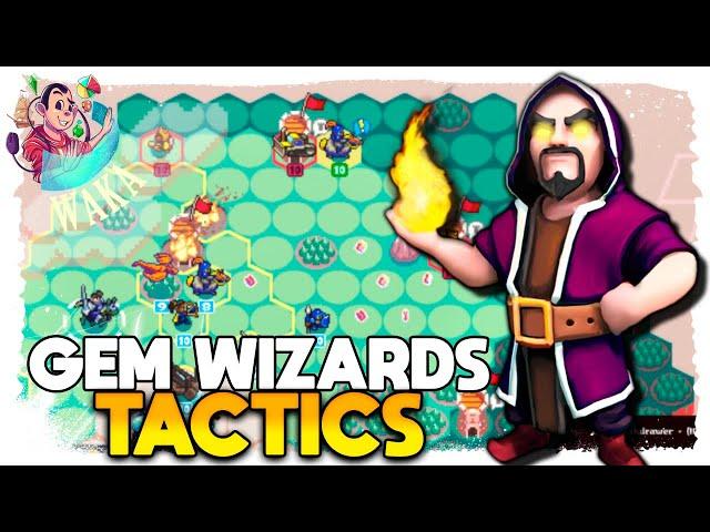GEMAS do PODER nesse RPG TÁTICO! | Gem Wizards Tactics #01 - Gameplay PT BR