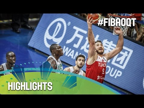 Senegal v Turkey - Highlights - 2016 FIBA Olympic Qualifying Tournament - Philippines