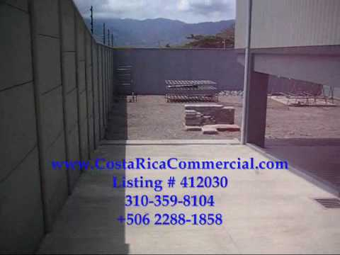 Costa Rica Commercial Warehouse space for sale in Belen.wmv