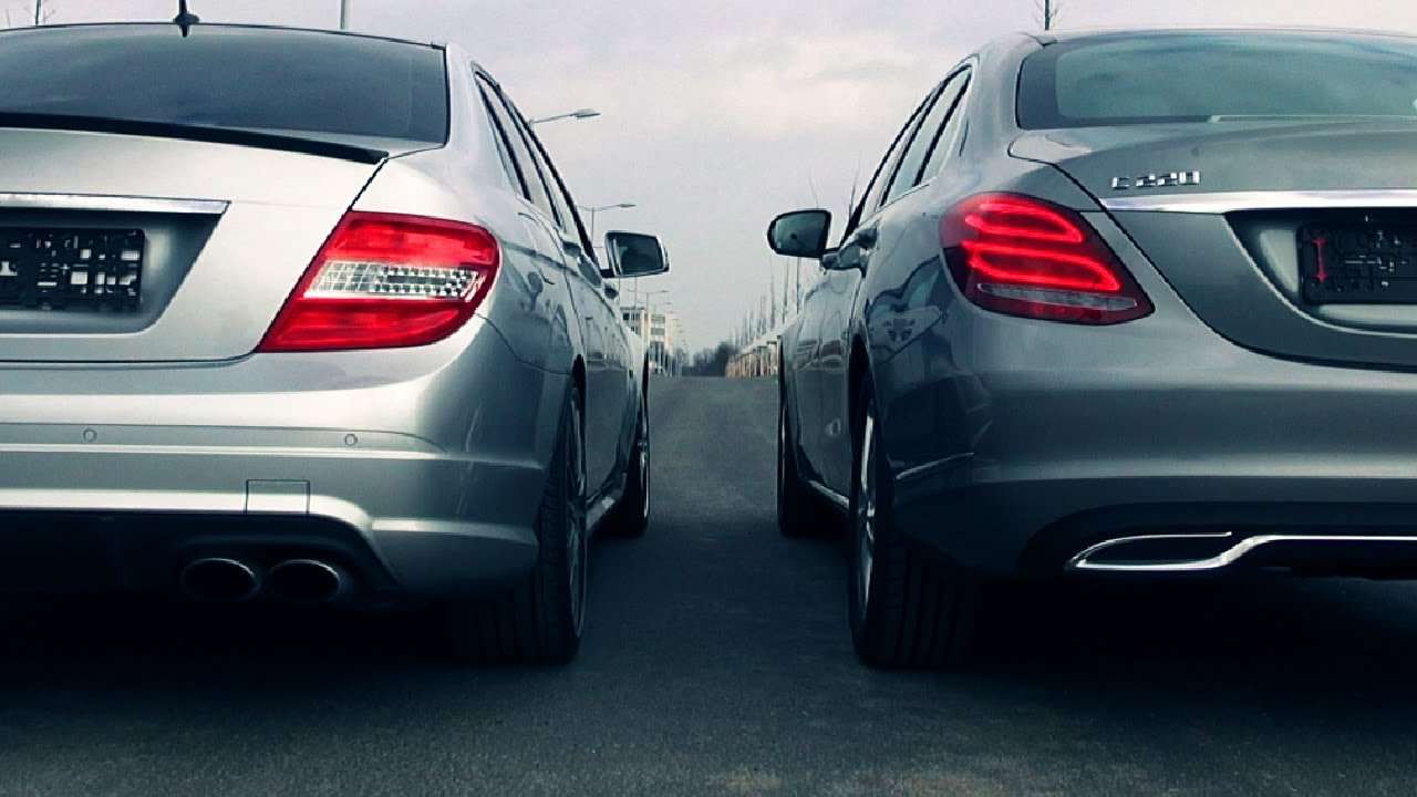 mercedes c220 cdi w205 vs c63 amg w204 sound exhaust blue. Black Bedroom Furniture Sets. Home Design Ideas