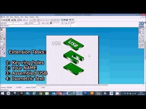 Techsoft 2D Design V2 Basics: Isometric USB