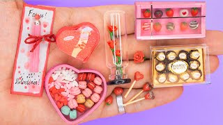 18 DIY Barbie MINIATURE IDEAS for Valentine's Day ~ Mini Roses, Stick Blower, Strawberry and more!