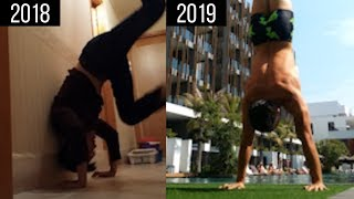 12 Months Handstand Transformation (0 to 40 seconds) | My Calisthenics Journey