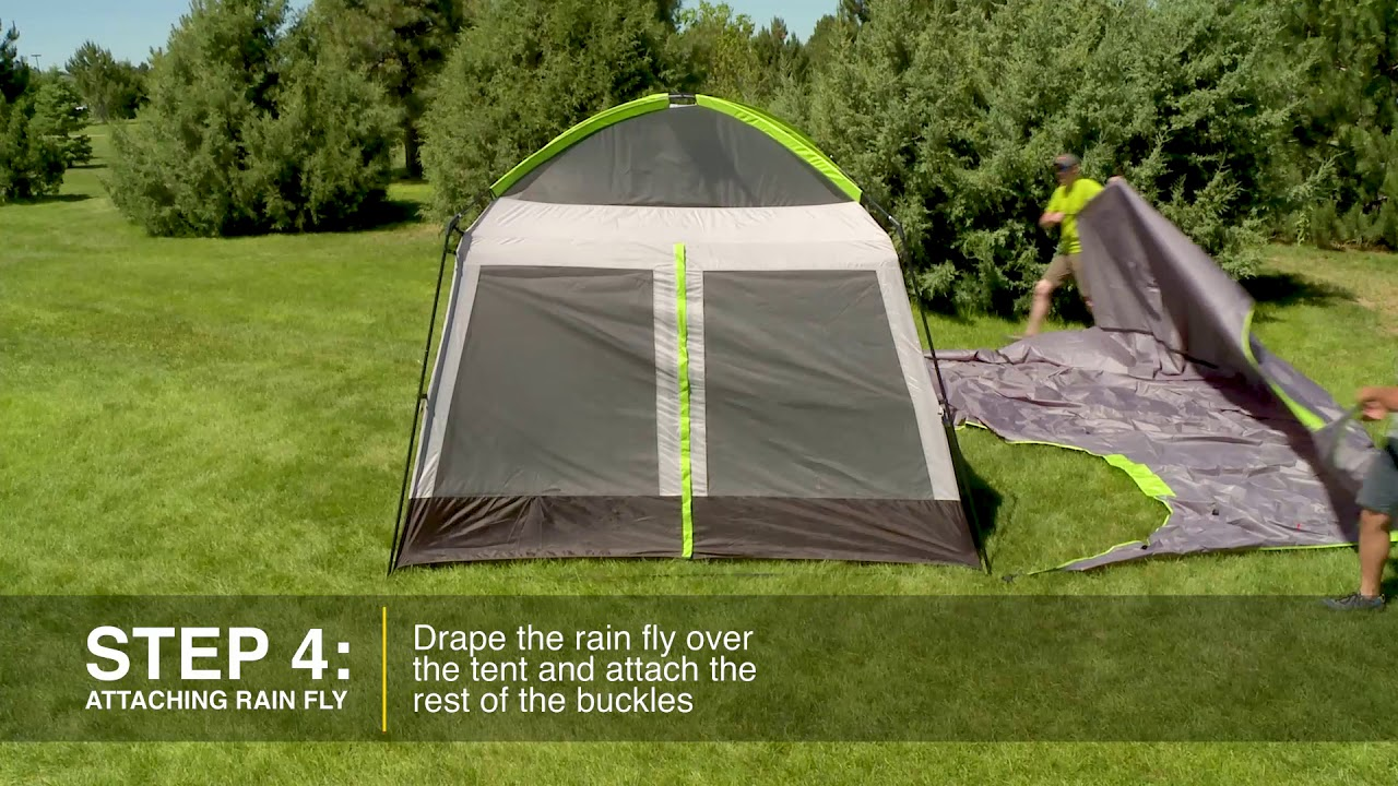 How to Set Up a Cabelau0027s Getaway Cabin 10x14 with Screenhouse : cabelas 6 person tent - memphite.com