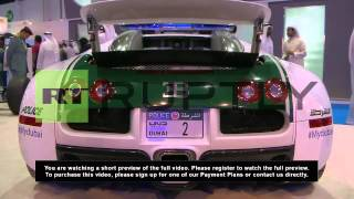 UAE: Bugatti, Ferrari and McLaren - Dubai's sexiest police cars on display