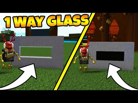 How To Make 1 WAY GLASS! | Build A Boat For Treasure ROBLOX