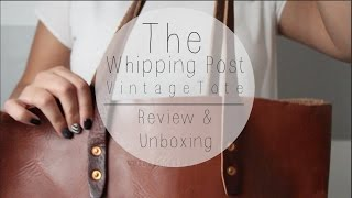 Whipping Post Tote Bag | Unboxing & First Impression