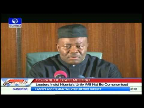 Council Of State Meeting: Leaders Insist Nigeria's Unity Will Not Be Compromised