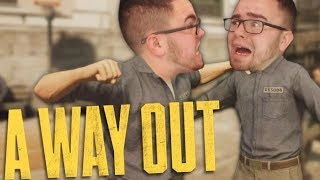 BRUTAL PRISON FIGHT | A Way Out Gameplay w/ Girlfriend #1