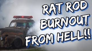 BAD-A$$ Rat Rod burnout from HELL!