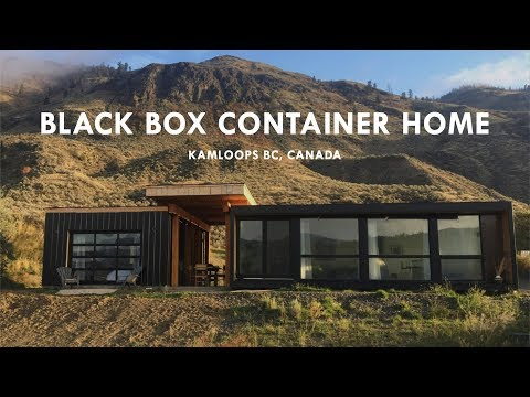 Black Box Container Home In Kamloops British Columbia Canada