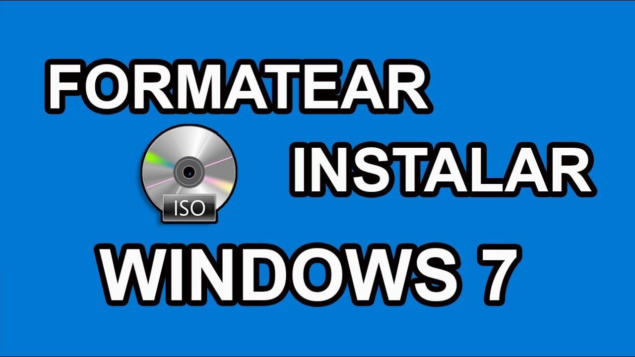 Cómo formatear e instalar windows 7 15 pasos.