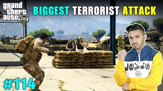 WE CAUGHT IN A TERRORIST TRAP | GTA V GAMEPLAY #114