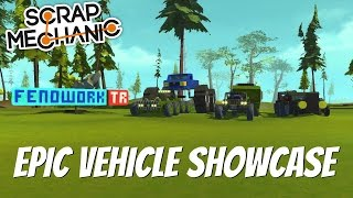 Scrap Mechanic Gameplay- EP 113- Monster Truck, Dune Buggy, Ford Mustang, and More (Viewer Creation)