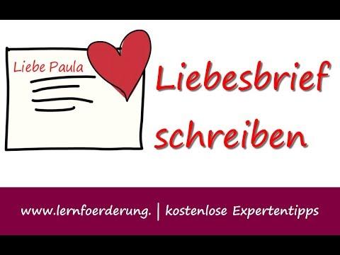 Liebesbrief Schreiben - Beispiel | Vorlage Für Einen Loveletter