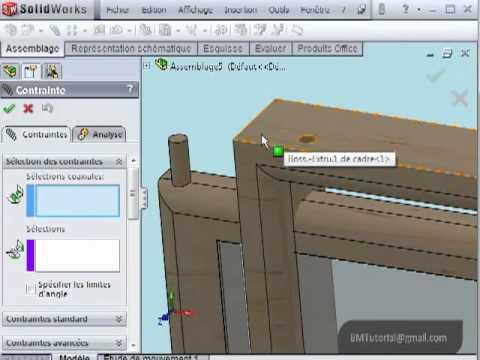 Assembly Assemblage Contrainte Pivot Hinge Mate Solidworks