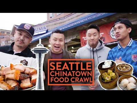 CHEAP CHINATOWN FOOD CRAWL w/ FRIENDS - Seattle