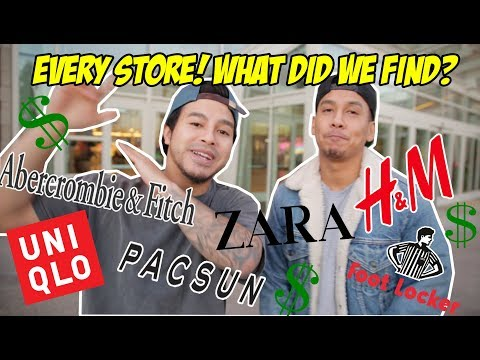 BREAKING DOWN EVERY STORE IN THE MALL! WHAT'D WE BUY?!