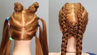 How To Double Dutch Braid Step by Step | Two Side Fish Braided Hairstyle for Girls