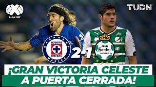 ¡Lo ganó la máquina! Bajo los ecos de un estadio VACÍO | CruzAzul vs Santos - CL2014 | TUDN