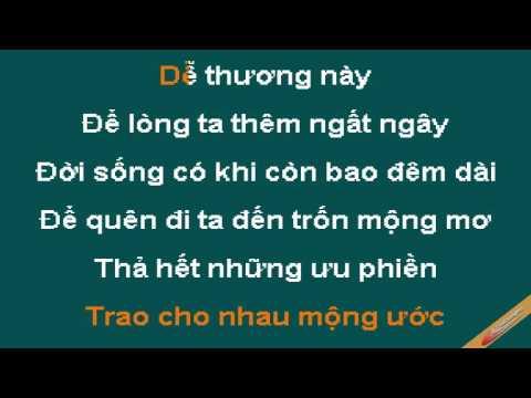 Gio Bay Tren Doi Karaoke - Mắt Ngọc - CaoCuongPro