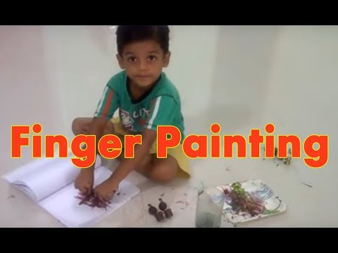 Finger Painting Ideas for Toddlers | Kids Painting Art Summer Activity